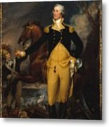 George Washington Before The Battle Metal Print