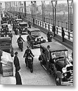 George Washington Bridge Open Metal Print