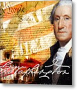 George Washington Father Of Our Country Metal Print