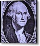 George Washington In Light Purple Metal Print
