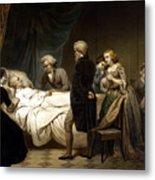 George Washington On His Deathbed Metal Print