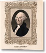 George Washington - Vintage Color Portrait Metal Print