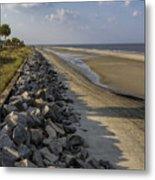 Georgia Atlantic Sea Barrier Metal Print