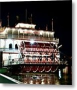 Georgia Queen Riverboat On The Savannah Riverfront Metal Print