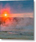 Geothermal Sunrise Metal Print