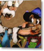 Geppetto And Pinochio Metal Print