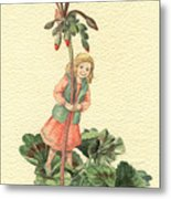 Geranium Girl Metal Print