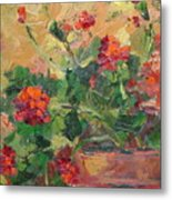 Geraniums II Metal Print