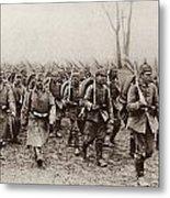 German And Austrian Soldiers Marching Metal Print