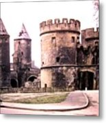 German Gate In Metz 1955 Metal Print