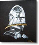 German Helmet Metal Print