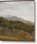 German Landscape With View Towards A Broad Valley , Fritz Petzholdt Metal Print