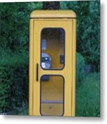 German Phone Booth Metal Print