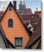 German Rooftops Metal Print