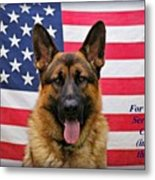 German Shepherd - U.s.a. - Text Metal Print