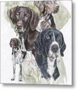 German Shorted-haired Pointer Revamp Metal Print