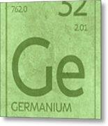 Germanium Element Symbol Periodic Table Series 032 Metal Print