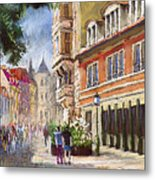 Germany Baden-baden Lange Str Metal Print