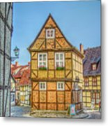 Germany - Half-timbered Houses And Alleys In Quedlinburg Metal Print
