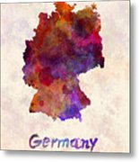 Germany In Watercolor Metal Print