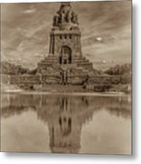 Germany - Monument To The Battle Of The Nations In Leipzig, Saxony, In Sepia Metal Print
