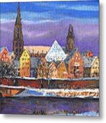 Germany Ulm Panorama Winter Metal Print