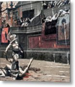 Gerome: Gladiators, 1874 Metal Print by Granger