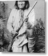 Geronimo Apache Indian Native American Metal Print