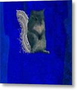 Gershwin The Cyan Squirrel Metal Print