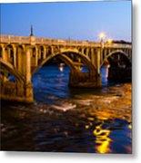 Gervais Street Bridge At Twilight Metal Print