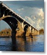 Gervais Street Bridge, Columbia, Sc Metal Print