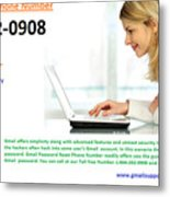 Get Solution For Gmail Support Service Number 1-844-202-0908 Metal Print
