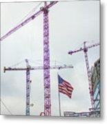 Getter Done Tower Crane Construction Art Metal Print