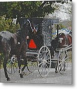 Getting The New Horse Home Metal Print