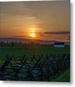 Gettysburg At Sunset Metal Print