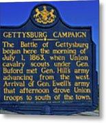 Gettysburg Campaign Metal Print