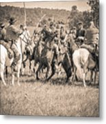 Gettysburg Cavalry Battle 7970s  Metal Print