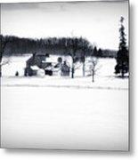 Gettysburg Farm In Winter Metal Print