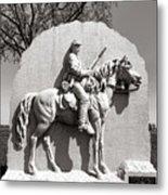 Gettysburg National Park 17th Pennsylvania Cavalry Monument Metal Print