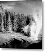 Geyser Metal Print by Carrie Putz