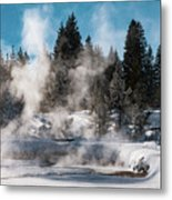 Geyser Trail Metal Print