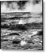 Geysers Of Yellowstone Metal Print