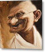 Ghandi Metal Print by Court Jones