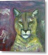 Ghost Cat Metal Print