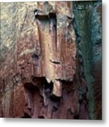 Ghost Cliff Abstract Metal Print