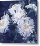 Ghost Flowers Metal Print