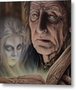 Ghost In The Book Metal Print