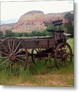 Ghost Ranch Wagon Metal Print