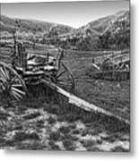 Ghost Wagons Of Bannack Montana Metal Print