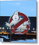 Ghostbusters In La Metal Print